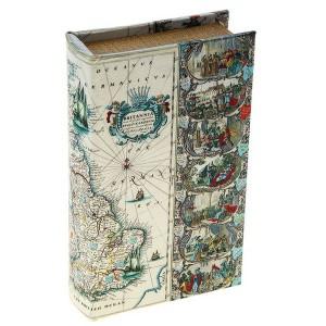 "Сейф книга шелк ""Путешествия вокруг света"""