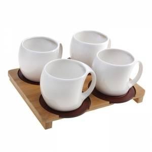 Сервиз чайный 4 предмета на подставке