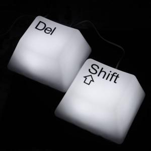 Светильник Кнопка от клавиатуры  USB SHIFT