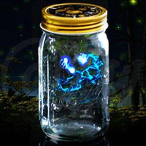 Светлячок в банке электронный голубой