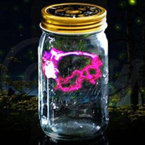 Светлячок в банке электронный розовый