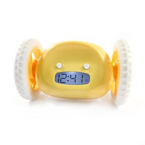 Убегающий будильник желтый
