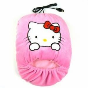 USB грелка для ног hello kitty розовая