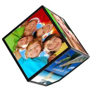 Вращающаяся Фоторамка 3D  куб Гигант