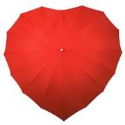 Зонт красный в виде сердца