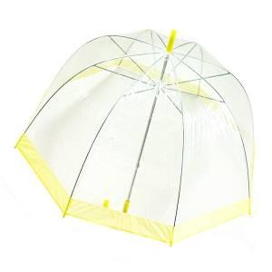 Зонт прозрачный купол желтая каемка