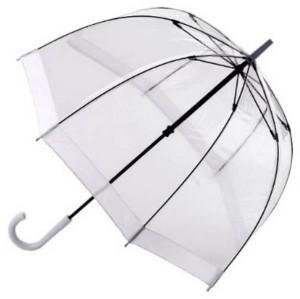Зонт прозрачный с белой каемкой