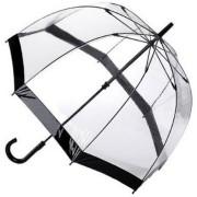 Зонт прозрачный с чёрной каемкой
