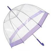 Зонт прозрачный с фиолетовой каемкой