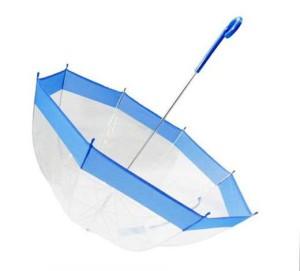 Зонт прозрачный с синей каемкой