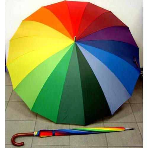 Зонт Радуга разноцветный трость